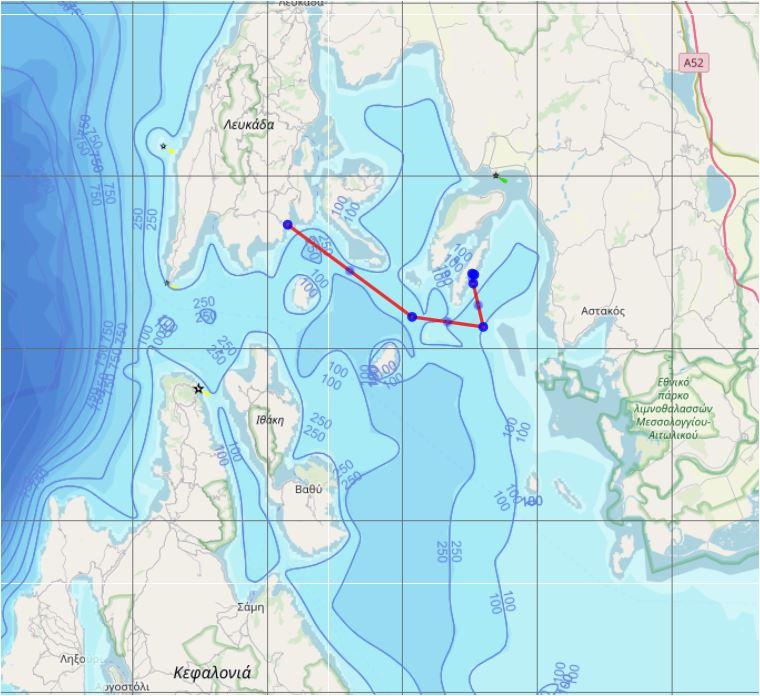 Donderdag 1 augustus:  Sivota naar Kastos(19 mijl)