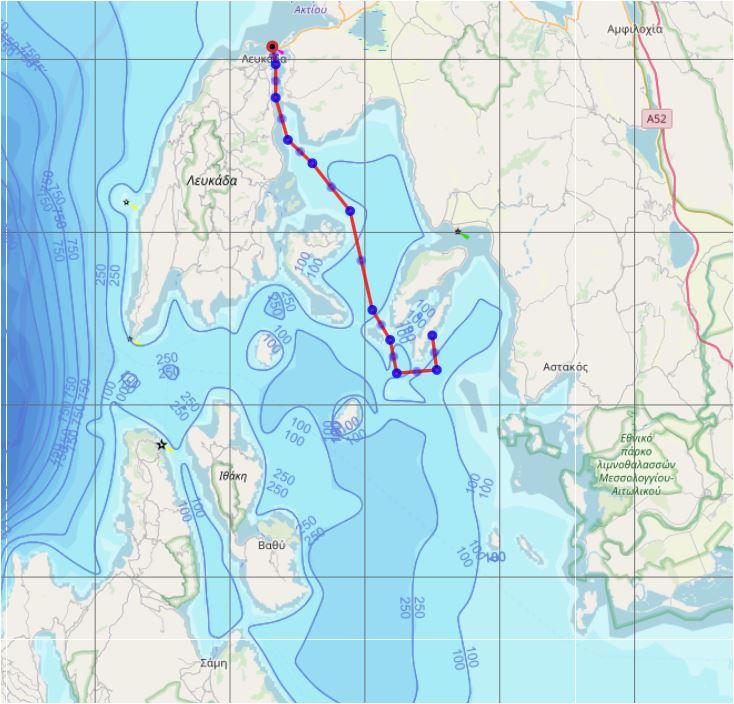 Vrijdag 2 augustus: Kastos terug naar Lefkas (26 mijl)✈