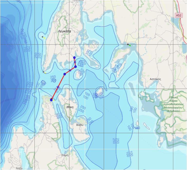 Woensdag 31 juli: Fiskardo naar Sivota (20 mijl)